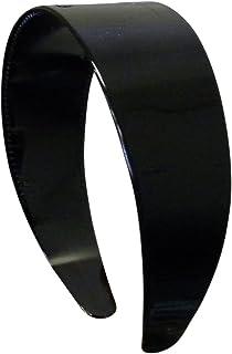 5.1cm Hard Plastic Headband with Teeth Women and Girls wide Hair band (Black)