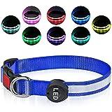 Plartree Collar de Perro LED Recargable USB, Collar Luminoso con Luz...