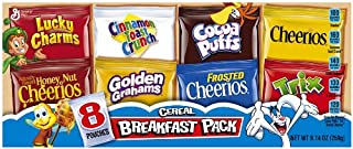 General Mills Assorted Cereal Breakfast pack, 8-Count Single Serve Pouches