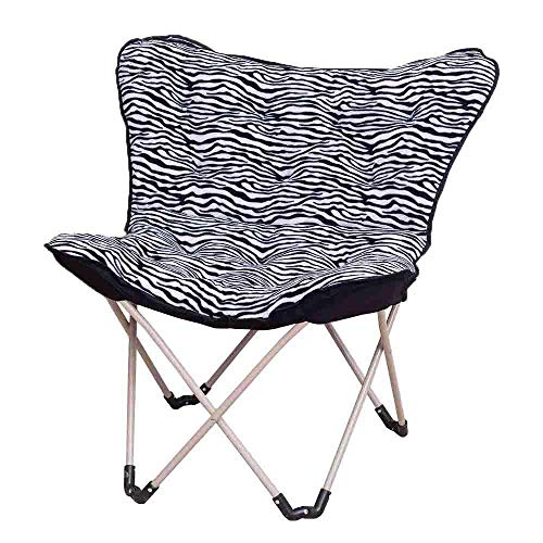 ZHANGYY Patio Lounge Stühle Stuhl Klappstuhl Balkon Klapphaus Lazy Sofa Stuhl Schmetterlingsstuhl Sonnenstuhl Radarstuhl Stuhl Home Decoration Langlebig (Farbe: Zebra Farbe)