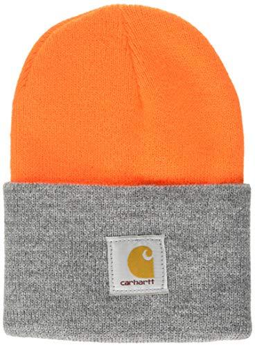 Carhartt Watch Hat Cappello Beanie, Bright Orange/H.Grey, OFA Unisex-Adulto