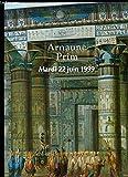 Catalogue de la Vente aux Enchères du 22 juin 1999 à l'Hô