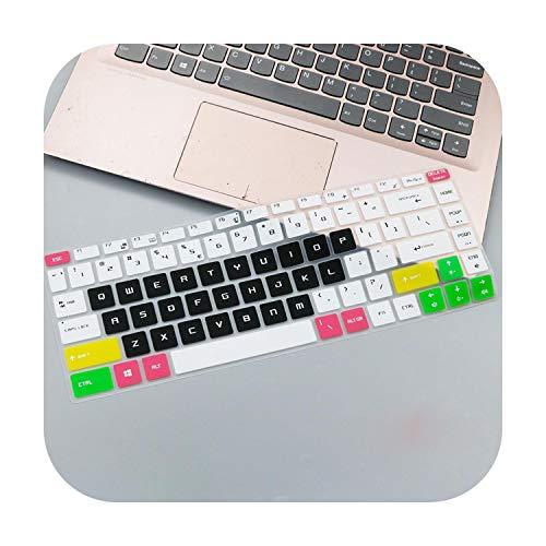Protector de teclado ultra delgado de silicona suave para MSI GF63 8rd 8rc GS65 15.6 pulgadas Gaming Laptop GF 63 (version 2018) Candyblack
