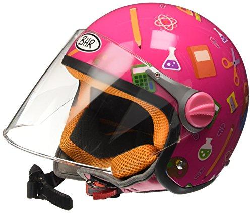 BHR 94119 Motorrad Helm Kid 713, Fantasie Schule Fuchsia, 49/50