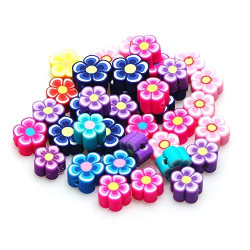 WEIMEIDA JQBB503 50pcs Polymer Clay Beads Colorido Helado Oso Flor Postre Separador Suelto para la joyería de DIY Pulsera Handmade Proveedor Snttz (Color : B04975)