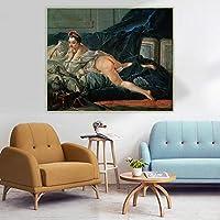 フランソワ・ブーシェ《ブラウンオダリスク》 ﹣5Dダイヤモンドペインティングフルドリル﹣フルドリルラインストーンクロスステッチクリスタル刺繍、室内装飾用