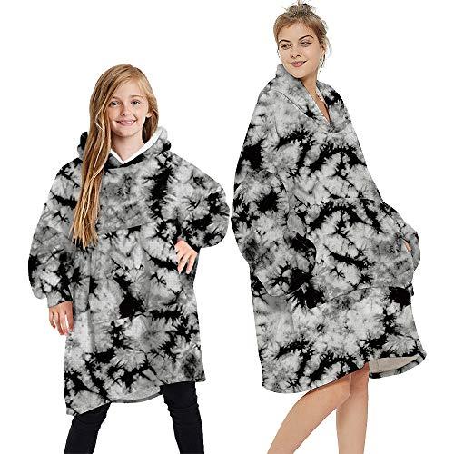 laamei Sherpa Hoodie Oversized Hoodie Kapuzenpullover Sweatshirt Decke Warm Winter Weich Riesig Damen Männer Mädchen Kuscheldecke mit Kapuze