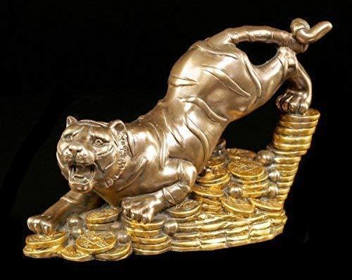 Geld Tiger Feng Shui Figur - Geldsegen Buddha Glücksbringer