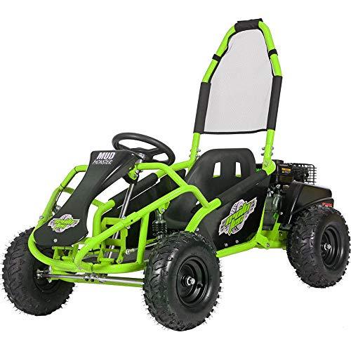 MotoTec Mud Monster 98cc Go Kart Full Suspension Green
