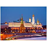 Night View At Kremlin, Moscu Puzzles for Adults, 300 Piece Kids Jigsaw Puzzles Game Toys Gift for Children Boys and Girls, 10' x 15'