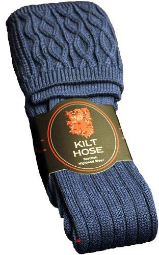 I Luv LTD Mens Kilt Hose Socks Plain Lovat Blue Size UK 6-9 US 39-43