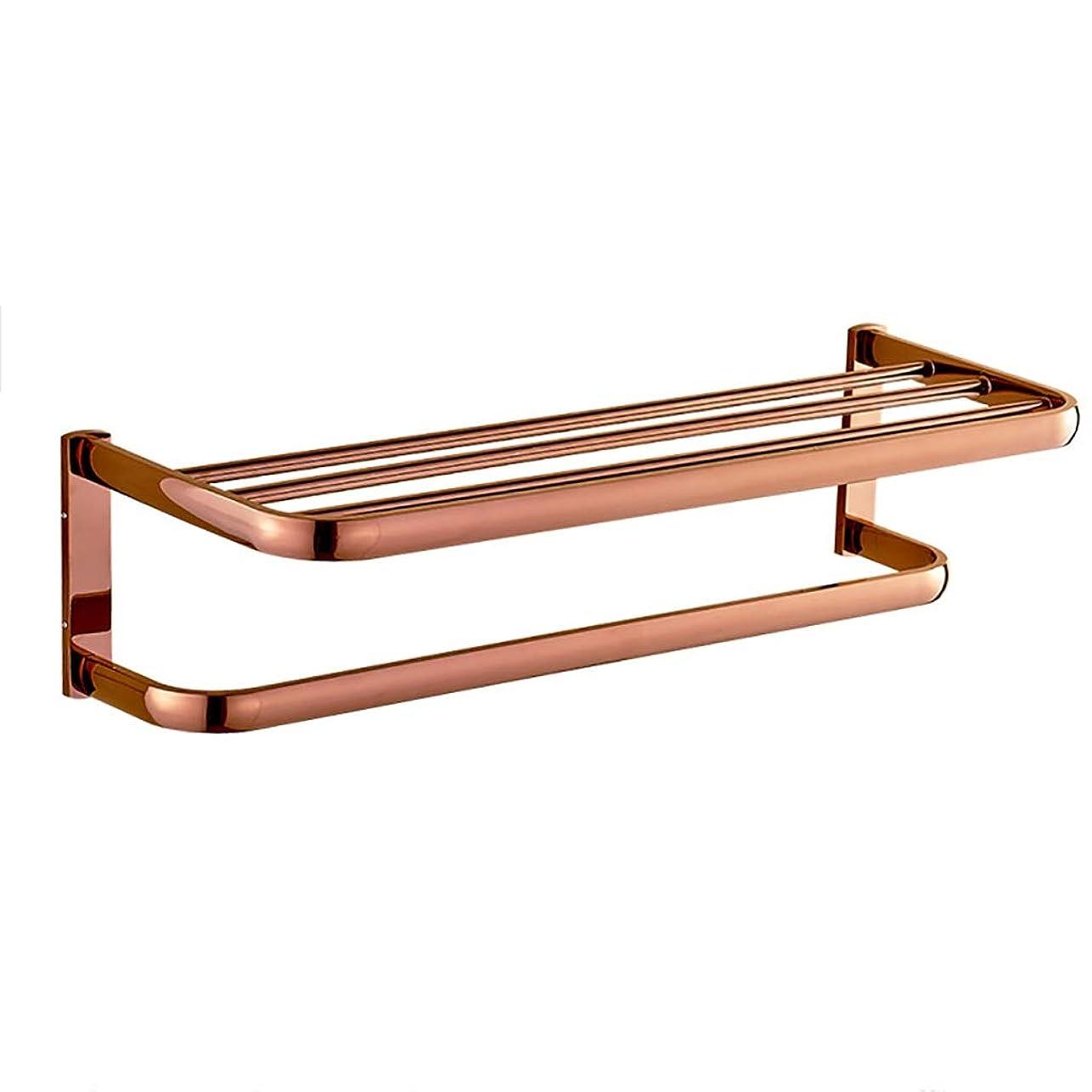 薄暗いループギャングローズゴールドタオル掛けヨーロッパの銅のタオル掛け浴室の浴室用ラックタオル掛け