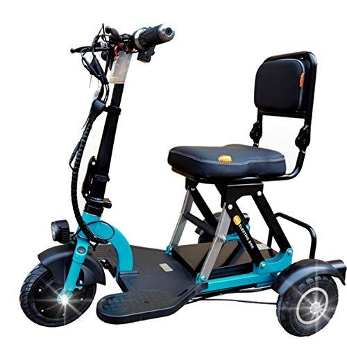 GYXZZ Scooter de Triciclo eléctrico, Mini automóvil para discapacitados para Adultos, Ajuste de 3 velocidades, batería de Litio 48V, Motor sin escobillas de 300 vatios, kilometraje 40km
