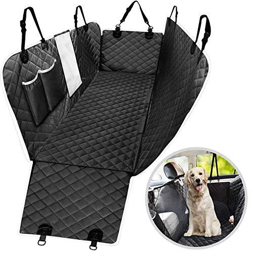 trounistro Hundedecke für Auto Rückbank, Hundedecke Autoschondecke Wasserfest Autoschondecke Kratzfest Rutschfester Rücksitz Sitzbezug für Haustier Auto (147 * 137CM / 58 * 54 Inch)