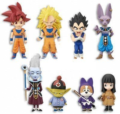 Dragon Ball Z The Movie World Collectable Figure vol.1 set all eight species (japan import)