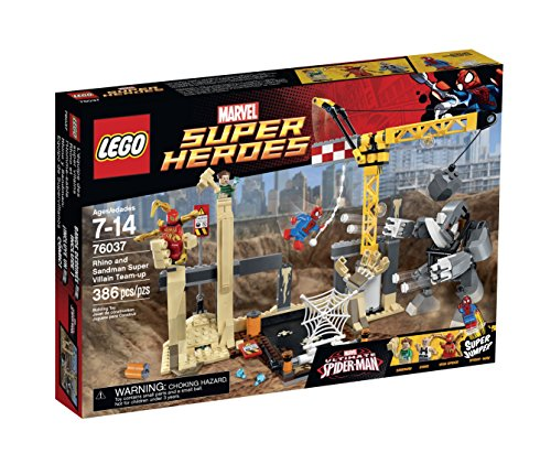LEGO Super Heroes 76037 Rhino and Sandman Super Villain Team-Up Building Kit by LEGO