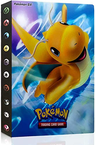 Funmo Álbum de Pokemon, Pokemon Kartenhalter Pokémon Pokemon Cards Album Pokemon GX EX Cards Album Book La Mejor protección para Pokemon Trading Cards (Dragonite)