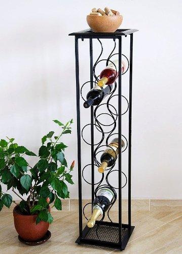 DanDiBo Weinregal Blumensäule Oktave 100 cm Flaschenständer Metall Regal Flaschenhalter