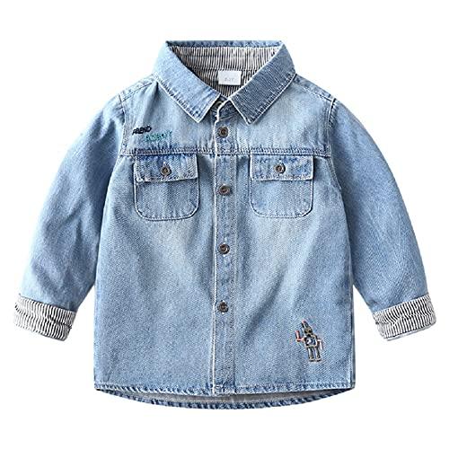 Natashas Baby Jungen Jeansjacke Mantel Kleinkinder Langarm Denim Tops Kleidung Frühling Herbst Casual Outwear 86