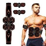 Electrostimulateur Musculaire EMS Stimulateur, EMS Ceinture Abdominale Electrostimulation USB Charge,smart fitness Entraînement Abdominal pour Abdomen/Bras/Jambes