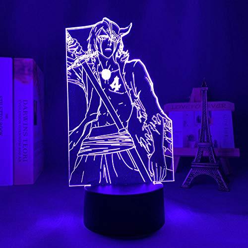 Lámpara de noche 3D Anime ilusión lámpara anime 3D lámpara de lejía Ulquiorra Cifer para dormitorio decoración luz nocturna fría regalo de cumpleaños acrílico LED luz nocturna Bleach MAOJIE
