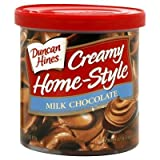 Duncan Hines, Creamy Home-Style Milk Chocolate Frosting 16oz Tub (Pack of 3)
