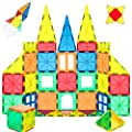 WHIRLT Magnetic Blocks, 40 PCS Magnetic Tiles Building Blocks Toys Set for Kids Preschool Educational Magnet Construction Magnetic Toys for Boys Girls Age 3 4 5 6 7 8 Year Old from WHIRLT