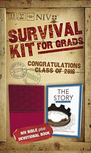 NIV, 2016 Survival Kit for Grads: NIV Bible plus Devotional Book, The Story Devotional by Zondervan (2016-03-29)
