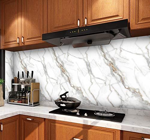 EBuyers Marmorpapier Küchenarbeitsplatte Schrank Möbel PVC leicht zu entfernen ohne Spuren zu hinterlassen, mit Glättungswerkzeug und Messer (60 x 998 cm, Jade)