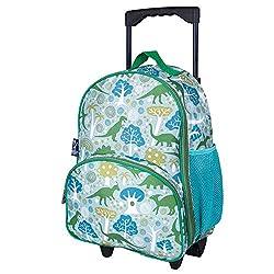 7. Wildkin Olive Kids Dinomite Dinosaurs 16″ Kids Rolling Luggage