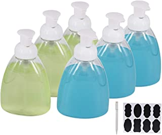 ZMYBCPACK 6 Pack 16 OZ Foaming Soap Dispensers Pump Bottles with Labels & A Pen, BPA Free Liquid Hand Soap Dispensers for DIY Liquid Soap,Dishwashing Soap, Body wash, Shampoos in Kitchen & Bathroom