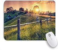 KAPANOUマウスパッド ヨーロッパの朝の太陽光線田舎の農家のカラフルな空 ゲーミング オフィス おしゃれ 防水 耐久性が良い 滑り止めゴム底 ゲーミングなど適用 マウス 用ノートブックコンピュータマウスマット
