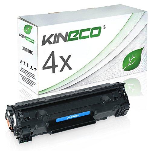 Kineco 4 Toner kompatibel zu HP CB435A 35A Laserjet P1005, P1006, P1007, P1008 - Schwarz je 1.750 Seiten