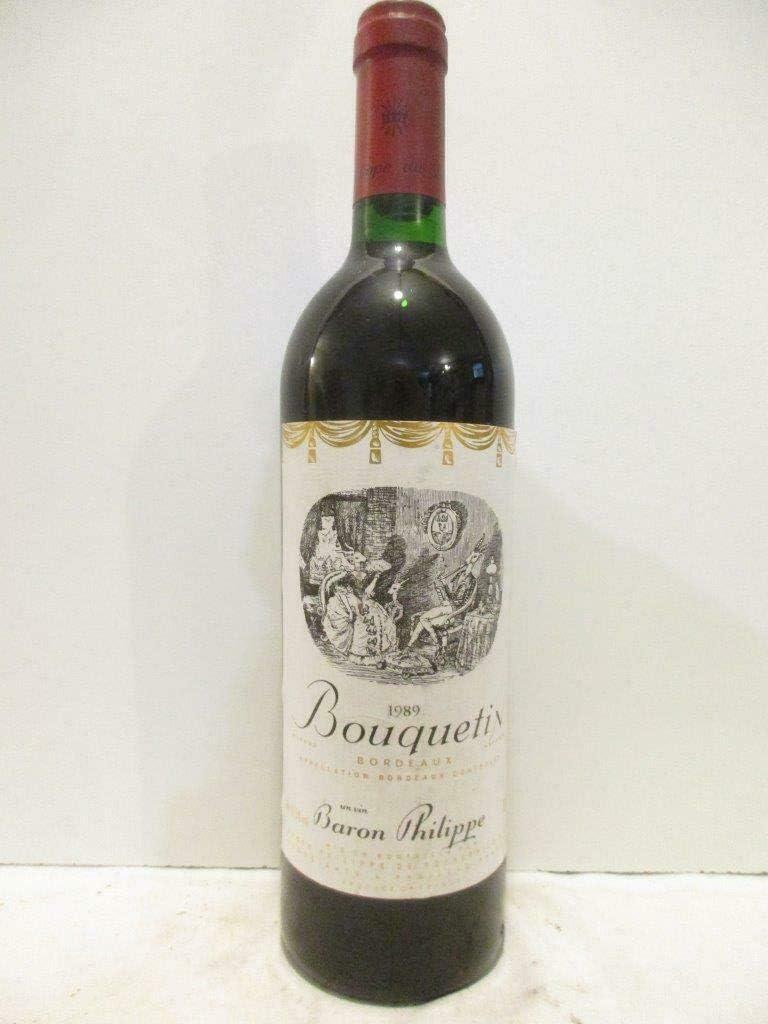 bordeaux bouquetin baron philippe de rothschild rouge 1989 - bordeaux