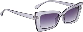 IPOTCH Women Retro Vintage Mirrored Sunglasses Oversized Cat Eye Glasses Eyewear