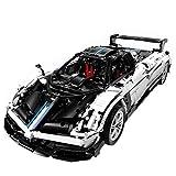 WWEI Piezas de construcción para coche Pagani Zonda Sportwagen, 1:8, 2,4 GHz, coche de carreras teledirigido con mando a distancia y motores, compatible con Lego Technic