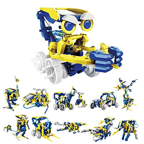 RCSPACEX STEM Learning Solar Robot Kit Toys for Kids- 11 in 1 Educational Science Building Toys Set-...