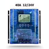 40A Fishyu 40A-100A Mppt Panel Solar Regulador de Carga 12V//24V Autoenfoque Tracking Device Beige