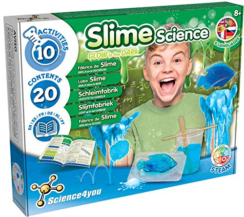 Science4You - Slime Scienza Bagliore nel Buio - Giochi e Giocattoli Scientifici, Include Libretto Educativo in 5 Lingue, Regali per Bambini +8 Anni