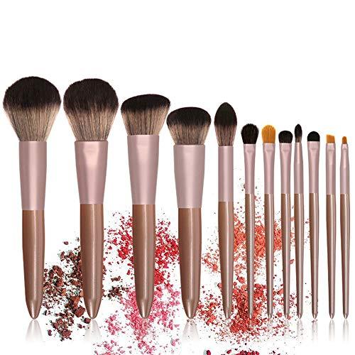 L.L.QYL Brosses Pinceaux de Maquillage Premium Foundation Poudre Correcteur Ombres à Paupières Ombre à Paupières Argent Noir Ensembles de pinceaux de Maquillage Maquillage pour Les Femmes