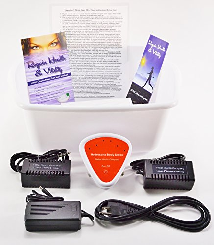 Detox CHI Foot SPA Cleanse with Longer Lasting Rectangular ARRAYS Ionic Cleanse Detox Foot Bath Spa Cleanse Unit for Home Use