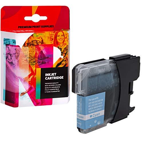 Cartucho de Tinta INQ PRINT Compatible con Brother DCP145C/165C/195C/365CN LC980C - XL - 25 ml - 800 Hojas- Cian.