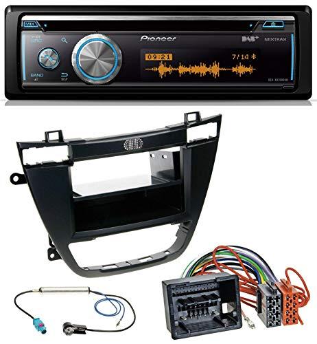 caraudio24 Pioneer DEH-X8700DAB MP3 DAB USB CD Bluetooth Autoradio für Opel Insignia 2008-2013 schwarz