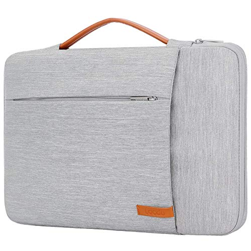 """Lacdo 360° Protective 14 Inch Laptop Sleeve Computer Case Portable Bag for Dell Inspiron 14 5481 / HP Stream 14"""" / Acer Spin 3 / ASUS L402YA / HP Acer Chromebook 14, S330 / Flex 14 Notebook, Gray"""