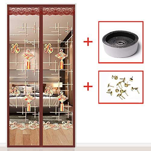 LXMJ Magnetische gordijnen tegen muggen, automatische deuren, geluidsarme deuren, ventilatiegordijnen, klittenbandsluiting, eenvoudig te installeren
