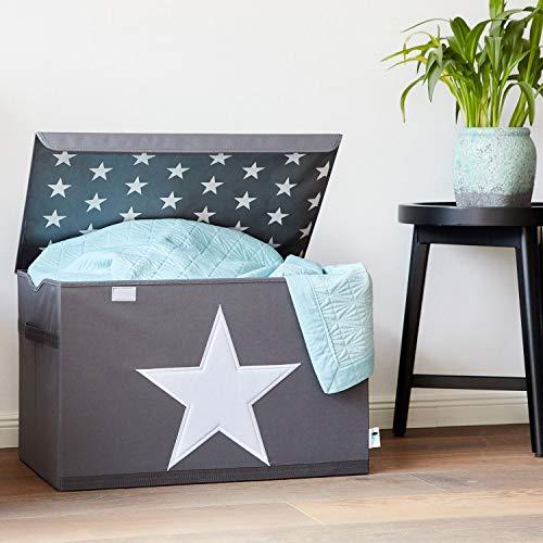 Store It 670360 Spielzeugtruhe, Polyester, Stern - grau/weiß, 62 x 37,5 x 39 cm - 3