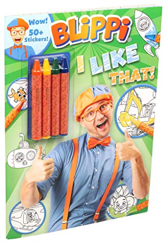 Blippi: I Like That! Coloring Book with Crayons: Blippi Coloring Book with Crayons (Coloring Books with Covermount)
