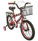 Airel Bicicletas Infantiles para Niños y Niñas | Bici con Ruedines y Cesta | Bicicletas 16 y 18 Pulgadas | Bicicletas niños 4-7 años | Color: Rojo Pulgadas: 16