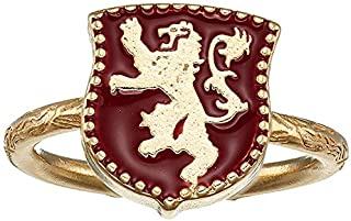 Alex and Ani Women's Game of Thrones, Lannister Signet Adjustable Ring.925 Sterling Silver