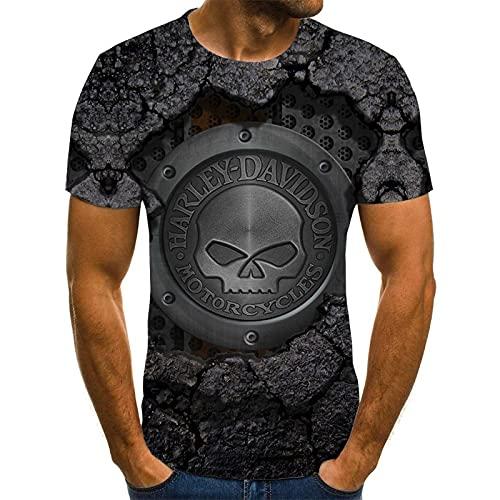 EMPERSTAR Skull T-Shirt Short Sleeve Unisex Boys Black 6XL